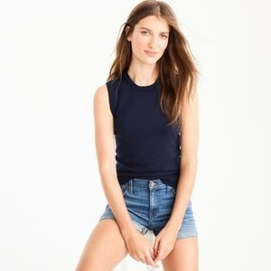 Like New J Crew Jackie Navy Shell Top Small